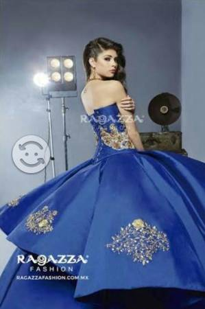 Vestido Xv Azul Rey Posot Class
