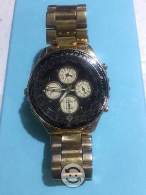 Reloj Seiko, acero, tres carátulas, alarma