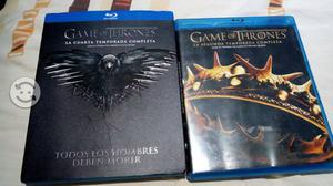 Blu ray game of thromes segunda y cuarta temp