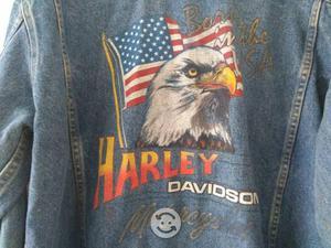 Harley Davidson chamarra Nueva de mezclilla 36