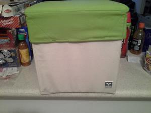 Caja taburete plegable con tapa desmontable, nueva