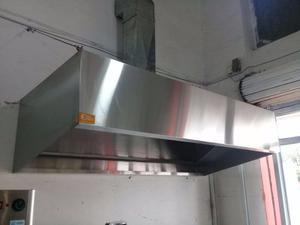 Campana De Extracción Industrial Con Filtros Iluminada 2mt