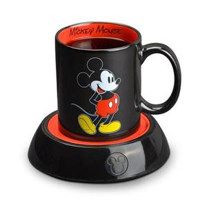 Taza Mickey Minnie Mouse Base Calentador Café Regalo