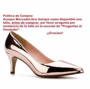 Zapatillas Andrea Bajitas Elegantes Oro Rosa Espejo