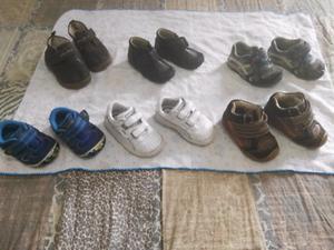 lote de calzado de bebe talla #12 y #12.5