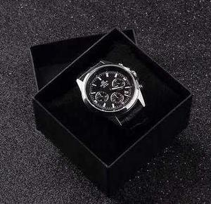 Caja Negra Elegante Y Almohadilla Reloj Joyas Envió Gratis