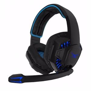 Diadema Gamer Naceb / Microfono / Usb O Jack 3.5mm /led Blue