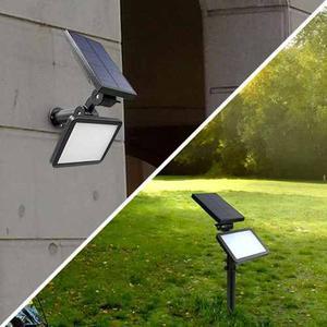 Lámpara Solar 48 Led Exterior Para Pared O Jardin C/ Sensor