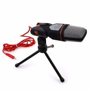 Microfono Condensador Plug Mini Tripie Semiprofesional Negro