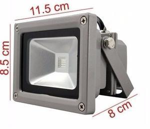 Mini Reflector Lampara Led 10w Exterior/bco Frio Luminaria