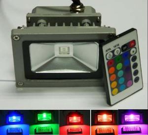 Mini Reflector Lampara Luz Led Exterior 10w Luz Rgb