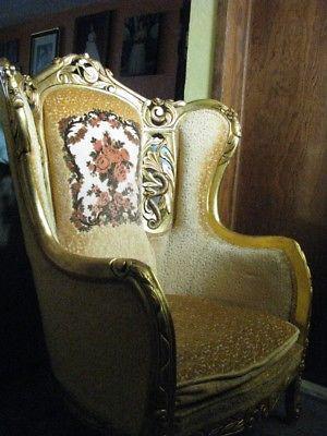 Sala Luis XV acabado hoja de oro