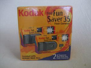 2 Camaras Kodak 35 Mm. Fun-saver Vintage Nuevas Selladas