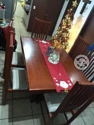 Comedor de madera 6 sillas