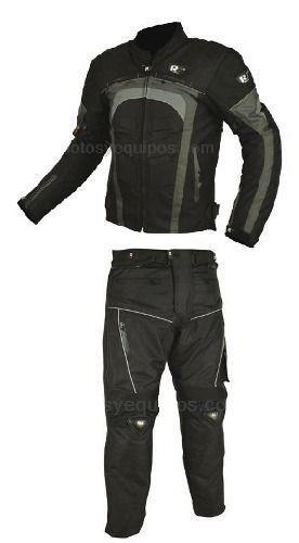 Conjunto Chamarra Pantalon Motociclista Protecciones R