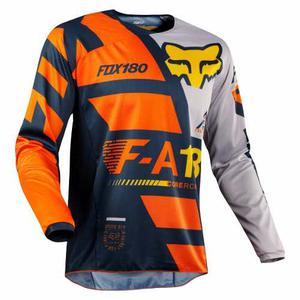 Jersey Fox 180 Sayak Naranja Talla M Motocross Mtb Downhill