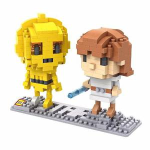 Luke Skywalker C3p0 Star Wars Envío Gratis Loz Miniblocks