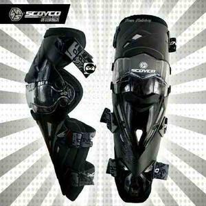 Rodilleras Articuladas Scoyco K12 Negro Moto Msi+envio Incl