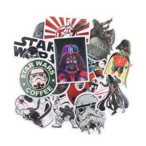 Set Calcomanias Stickers Geek Star Wars 25 Pack