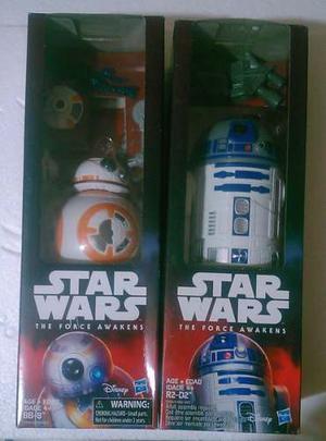 Star Wars Set 2 Droids The Force Awakens Bb-8 Y R2 D2 Raros