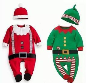 Trajes de Navidad con gorro para bebes de 3 meses hasta 3