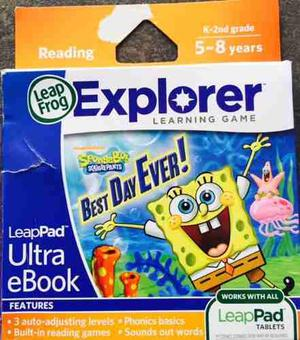 Videojuego Cartucho Leapfrog Leappad Ultra Ebook Spongebob
