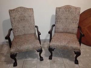 Hermosos sillones de caoba en REMATE