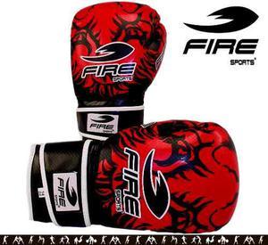 Par Guante Box Muay Thai Kick Fire Sports 12 Y 14oz Tigre