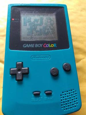 Game Boy Color Verde Con Dodge Ball Kunio Kun