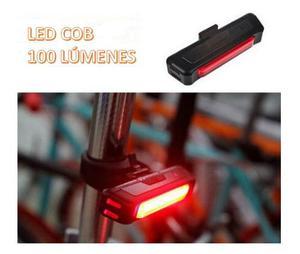 Luz Trasera Roja Bicicleta Recargable Vs Agua Ultra Brillo