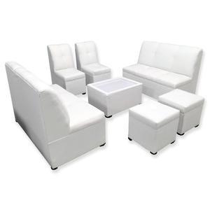Mueble Sala Lounge Minimalista Moderna Sillones Puff