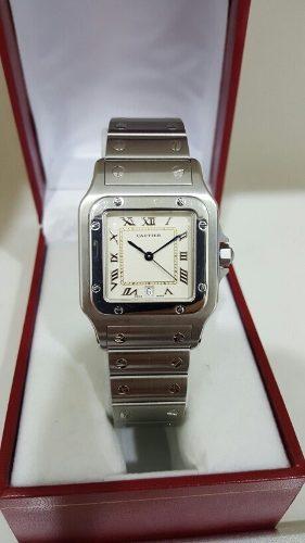 Cartier Santos Galbee De Acero 100%original Como Nuevo