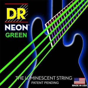 Dr Cuerdas 4 Bajo Neon Verde  Fosforecentes Bass