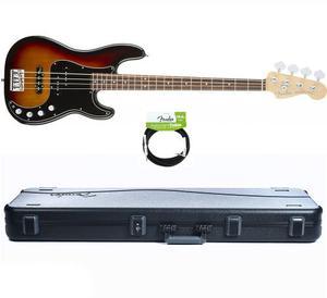Fender American Elite Precision Bass Sunburst Case+cable