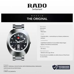 Rado Original Caballero R Automático 35mm Wr 30m