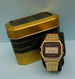 Reloj Casio A159 Dorado Negro Retro Vintage