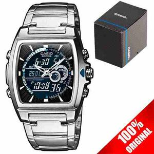Reloj Casio Edifice Efa120 Termómetro Alarma Cristal
