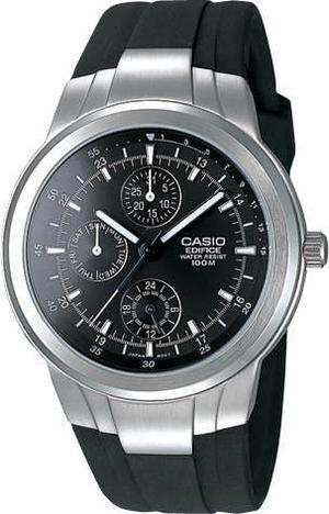 Reloj Casio Ef305 Acero Inoxidable Caucho Cristal Antirayas