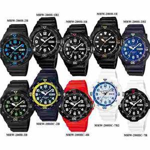 Reloj Casio Mrw200 Caucho Negro - 100% Original Cfmx -