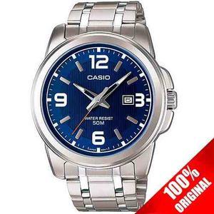 d678d812cdde Reloj casio mtp metal azul fechador cristal mineral