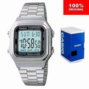 Reloj Casio Retro Vintage A178 Plata - Hora Doble - Cfmx