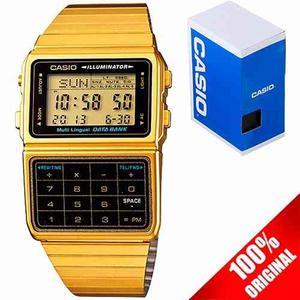 Reloj Casio Retro Vintage Dbc611 Dorado Calculadora