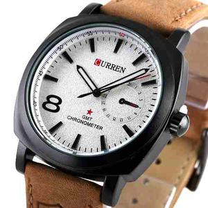 Reloj Curren Original Cuero Deportivo Contra Agua Hombre