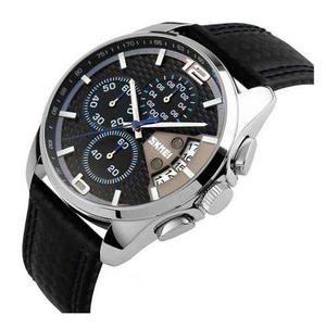 Reloj Daytona Nascar Cronografo Piel Genuina Sumergible 50mt