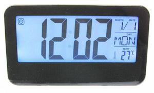 Reloj Digital Alarma Numeros Grandes Fechador Luz Led Negro