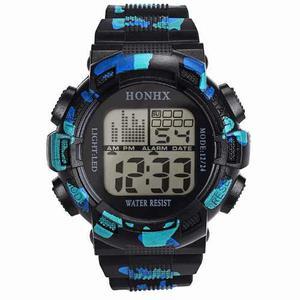 Reloj Digital Honhx Fecha Cronometro Luz Alarma Escoge Color