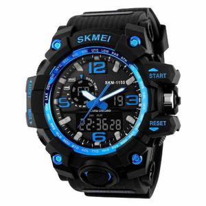 Reloj Hombre Deportivo Hora Dual 4 Colores Sumergible 50 M