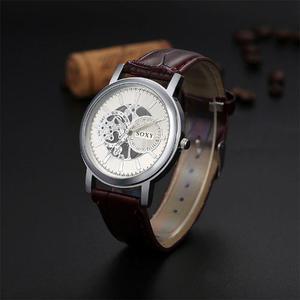 Reloj Para Hombre Caballero Y Correa De Piel Tipo Eskeleton