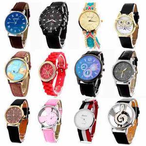 Reloj Relojes Moda Hombre Mujer Vintage Casual Mayoreo Venta