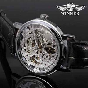 Reloj Winner Mecanico Automatico Cristal Mineral Y Pulsera